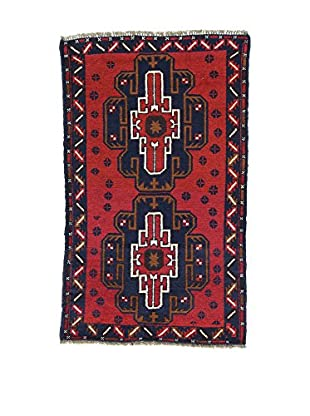 L'Eden del Tappeto Teppich Beluchistan rot/dunkelblau 143t x t87 cm