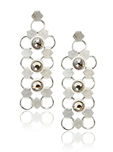 Lionette Designs by Noa Sade Gold and Black Diamond Taylor Mesh Drop Earrings