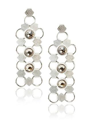 Lionette Designs by Noa Sade Gold & Black Diamond Taylor Mesh Drop Earrings