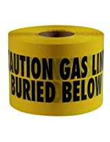 Empire Level 22-214 6-Inch by 1000-Feet Caution Gas Line Buried Below Tape, Yellow