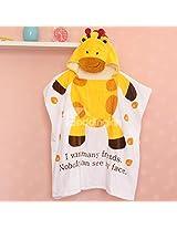 Giraffe Kids Super Soft Best Bathing Towel with Animal Printed Cap Hood Baby Birthday Return Gifts Bath robe