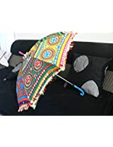 beautiful traditional umbrella with full mirror work and embroidery