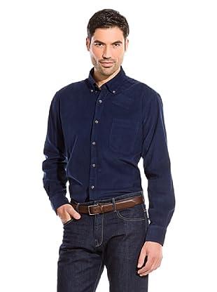 Cortefiel Camisa Liso Pana (Azul Marino)