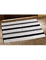 Avira Home 1450 GSM Broad Stripe Monochrome Bathmat-Door Mat- Floor Mat-100% Cotton-Multicolor