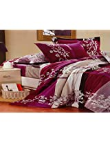 MELODY GIFT BOX PACKING BEDSHEET WITH PILLOW COVERS,DIWALI GIFT BEDSHEET,WINE FLORAL BEDSHEETS