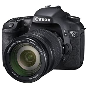 Canon EOS 7D 18 MP CMOS Digital SLR Camera with EF-S 18-200mm f/3.5-5.6 IS Standard Zoom Lens
