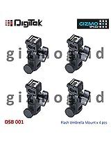 DigiTek DSB 001 Flash Umbrella B Bracket Mount Speed Light Holder - (4pcs Pack)