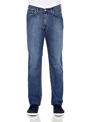 Carrera Jeans Pantalón Denim Stretch 11 Oz (Azul Medio)