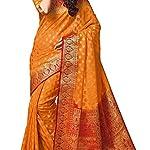 Women kanjivaram Tassar Silk Saree With Blouse Pcs