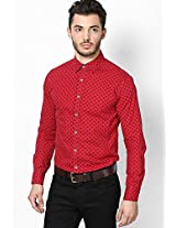 Printed Red Casual Shirt Status Quo