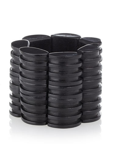 MARNI Women's Black Wide Coal Bangle Bracelet