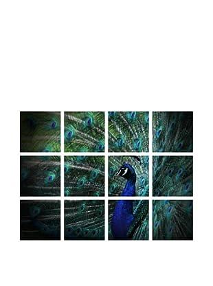 Art Addiction Acrylic Printed Peacock, Polyptych