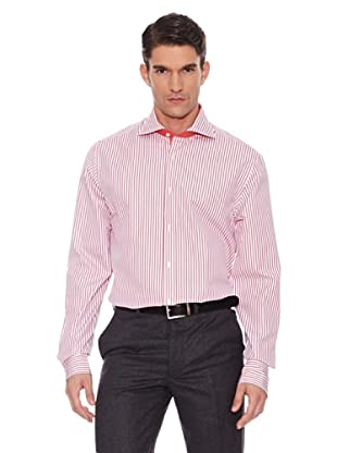 Hackett Camisa Rayas (Naranja / Blanco)