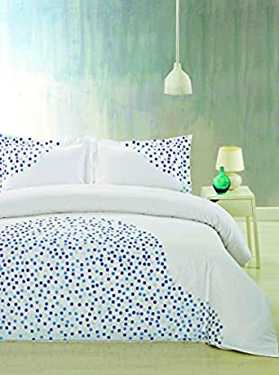 Mélange Home Ombre Dots Embroidered Duvet Set