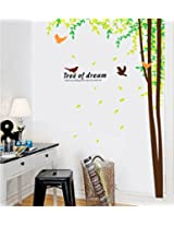 UberLyfe Tree of Dreams and Birds Wall Sticker for Living Room - XL