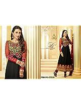 Fabboom Karishma Kapoor Black Designer Anarkali Suit With Long Sleeve
