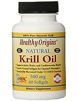 Healthy Origins Krill Oil - 500 mg - 60 Softgels