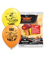 "Pioneer National Latex Disney 12"" Planes Fire and Rescue 6 Balloons, Assorted"