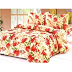 Beautiful Designer Double Bed Sheet With Pillow Covers