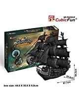 3d Puzzle Queen Annes Revenge Large Cubicfun T4018h 308 Pieces Decorative Exiting Fun Educational Playing Building Game Kids Best Gift Toy