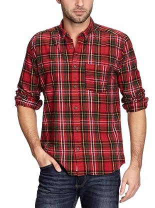 Cottonfield Hemd (Rot/Schwarz)