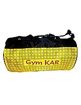 "A2z gymkar yellow 18""inch nylon 10liters drum bag gym bag duffle bag"