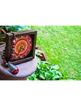 Footprints Forever Red Mandala Clock
