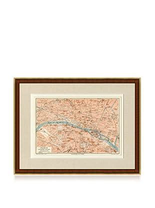 Antique Paris 1890's Map