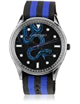 Eh 1119 Blbk Two Tone/Black Analog Watch Ed Hardy