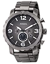 Fossil Nate Chronograph Analog Grey Dial Men's Watch - JR1437