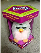FURBY SILVER WITH BLACK SPOTS AND PINK TUMMY PINK INNER EARS MODEL 70-800