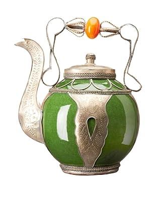 Badia Design Decorative Ceramic Teapot, Green