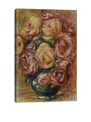 Pierre-Auguste Renoir's Vase De Roses Giclée Canvas Print