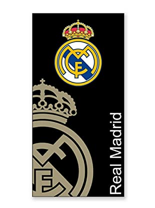 Secaneta Toallas de Playa Escudo Real Madrid (Negro)
