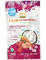 Happy Baby happy creamies Veggie & Fruit Snacks - Strawberry Raspberry & Carrot - 1 oz