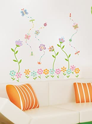 Ambiance Live Vinilo Adhesivo Flower Garden Butterfly Wall Decal