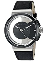 Kenneth Cole Transparency Analog Black Dial Men's Watch - 10020855
