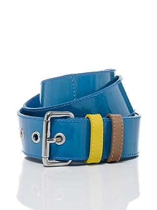 Stefanel Ledergürtel (Blau)