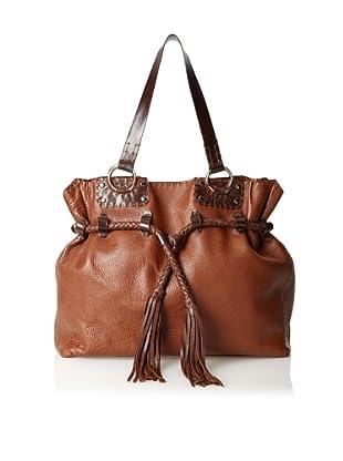 Carla Mancini Women's Randall Tassel Shoulder Bag, Brown