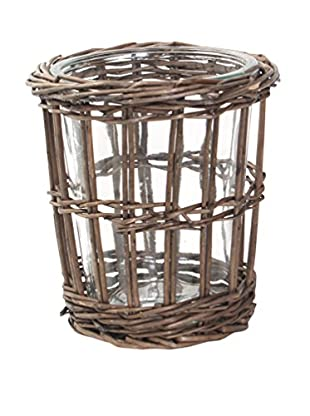 Sage & Co. Rattan And Glass Vase/Hurricane