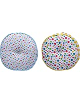 "Karur tex 2 Piece Polycotton Floor Cushion - 17"" x 17"", Multicolour"