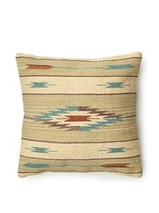 La Boheme Hand Woven Pillow (Turquoise)