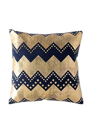 Shiraleah Caravan Embellished Square Pillow, Navy