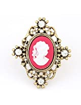 Cinderella Collection by Shining Diva Golden & Pink CZ Ring for Women 7111r