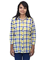 Romano Women's Yellow Cotton Top