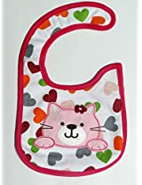 Carter's Cat with heart Baby Bib (Unisex)