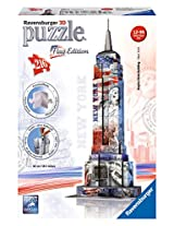 Ravensburger 3D Puzzles Empire State Building Flag Edition, Multi Color (216 Pieces)