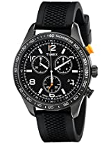 Timex Light Chronograph Black Dial Men's Watch - T2P043