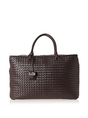 Bottega Veneta Women's Brick Bag, Ebano/Brunito