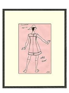 Vintage Women's Courreges Fashion Sketch c.1968